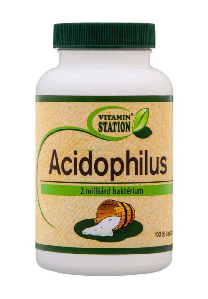 Vitamin Station Acidophilus 100 caps.