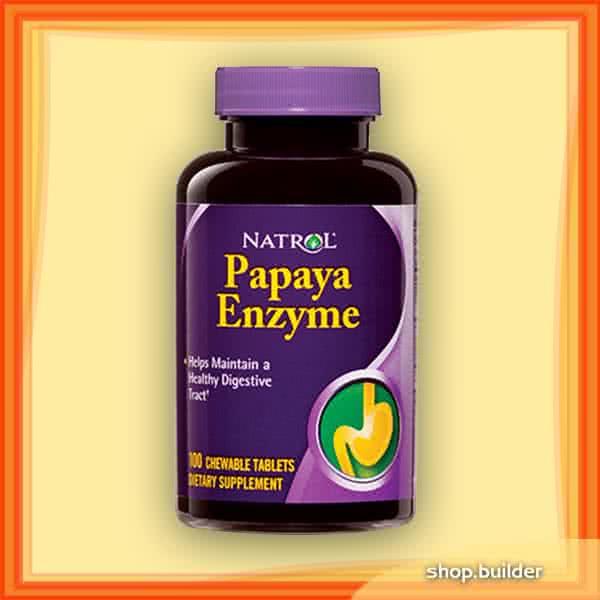 Natrol Papaya Enzyme 100 tabl. de mest.