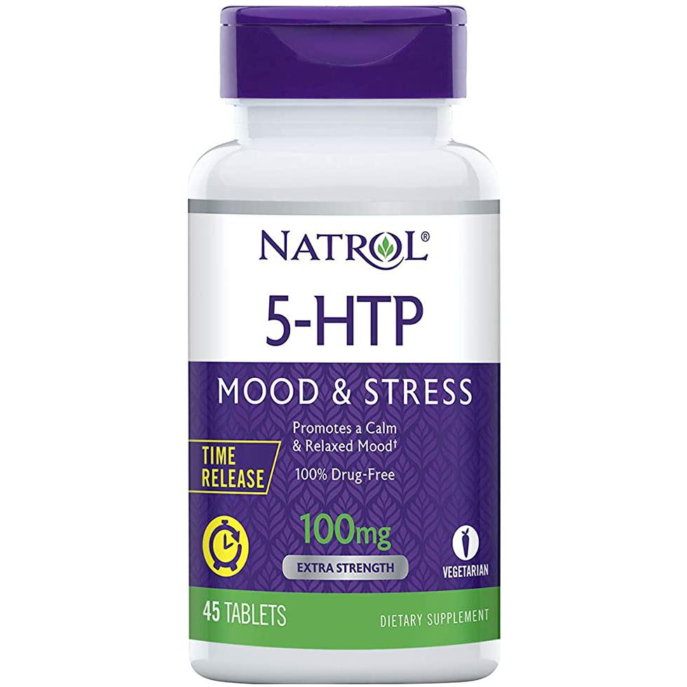 Natrol 5-HTP Time Release (100 mg) 45 caps.