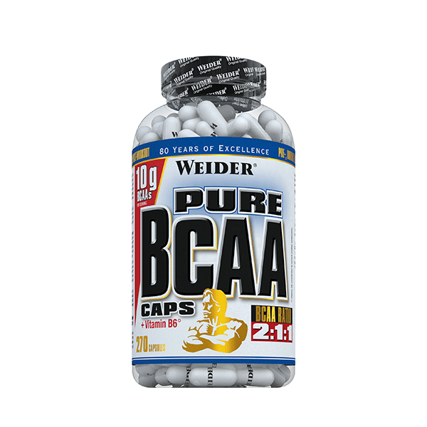 Weider Nutrition Pure BCAA Caps 270 caps.