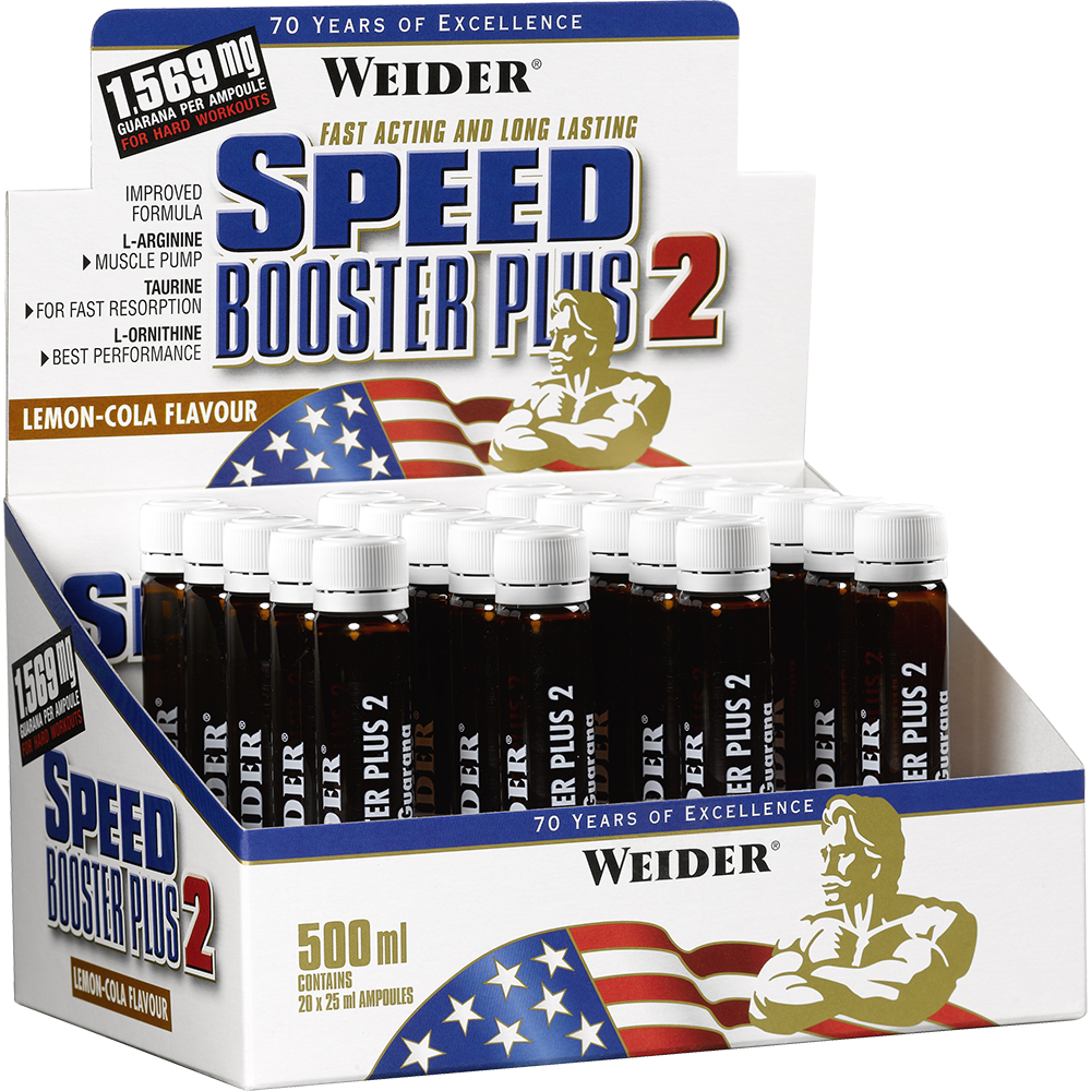 Weider Nutrition Speed Booster Plus 2 Ampulles 20 amp.