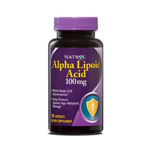 Natrol Alpha Lipoic Acid 100 caps.