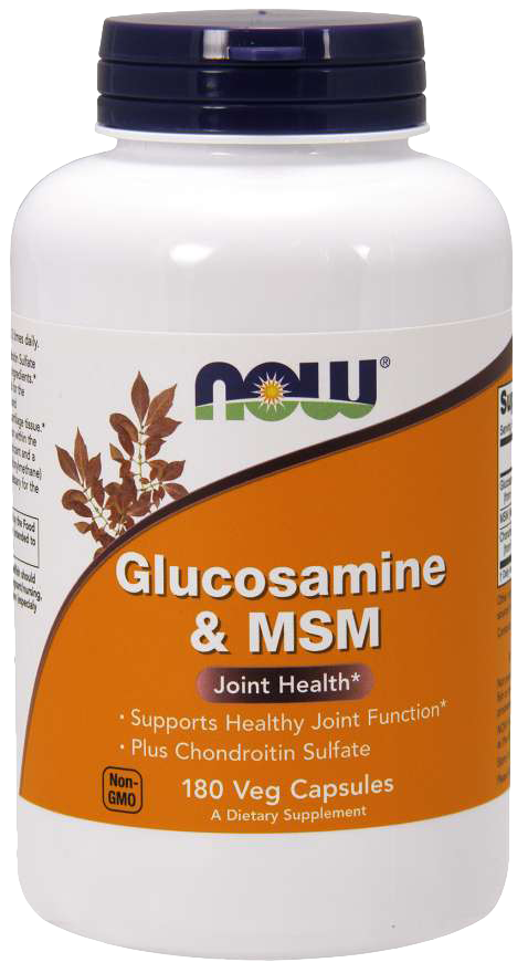 Now Foods Glucosamine & Chondroitin with MSM 180 caps.