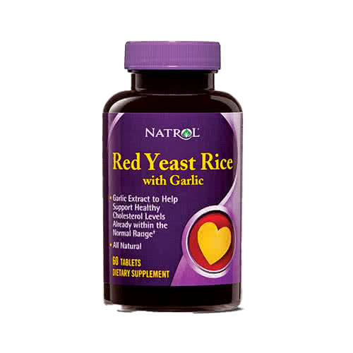 Natrol Red Yeast Rice with Garlic 60 tab.