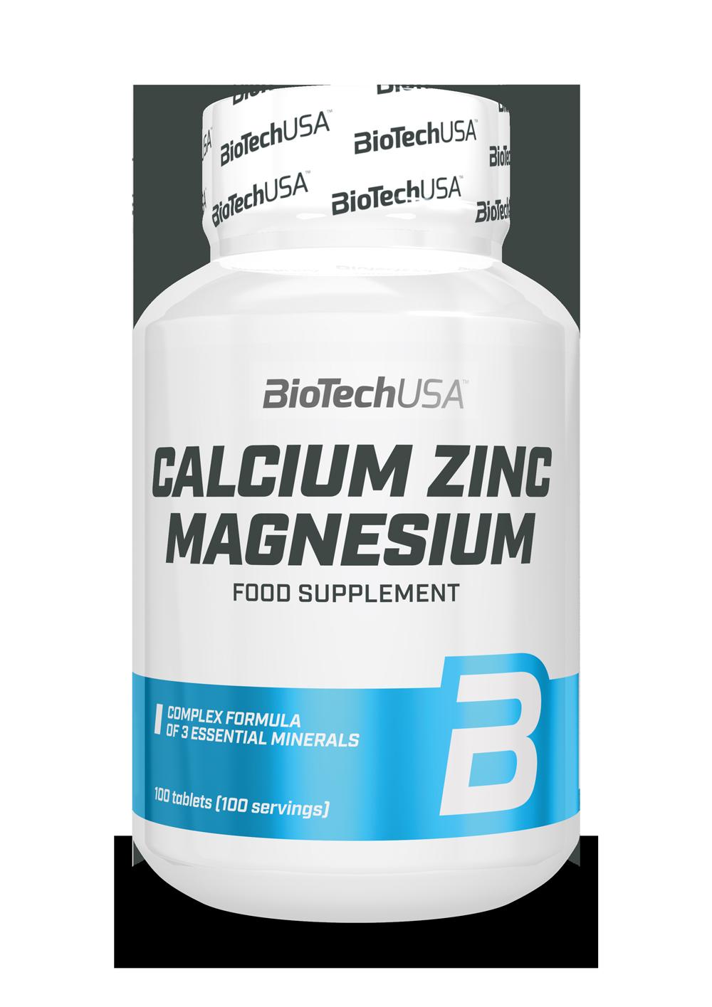 BioTech USA Calcium Zinc Magnesium 100 tab.