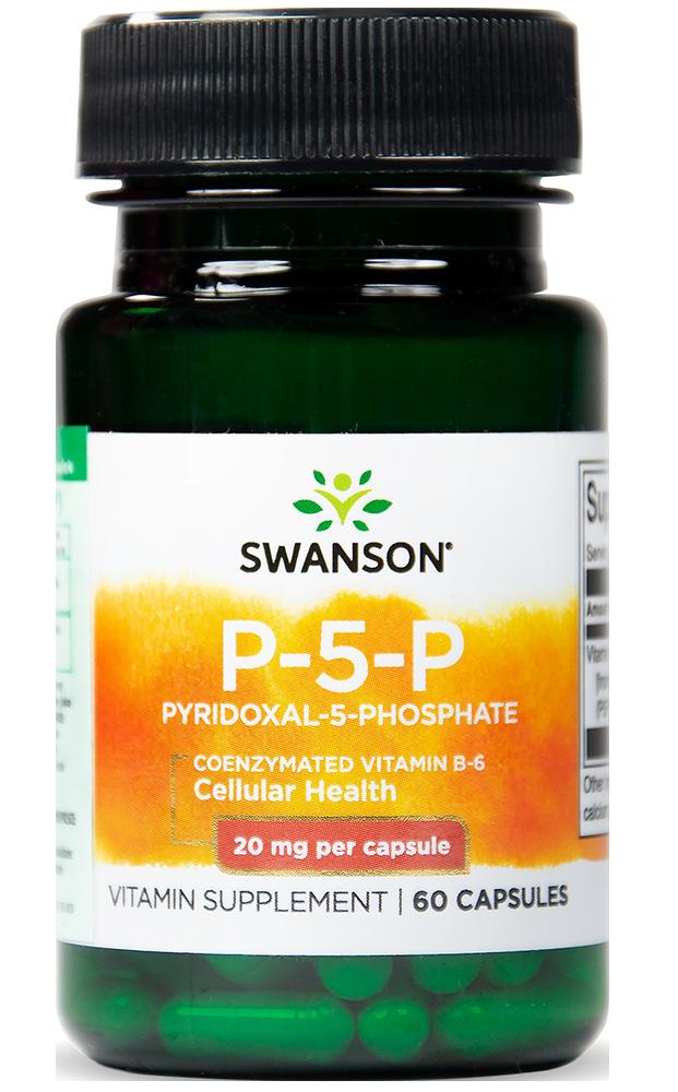 Swanson Vitamin B6 (P-5-P) 60 caps.