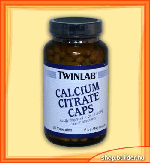 Twinlab Calcium Citrate Caps 150 caps.