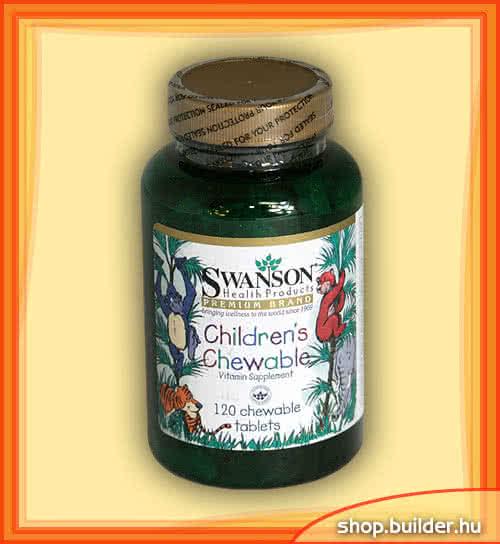 Swanson Childrens Chewable 120 tabl. de mest.