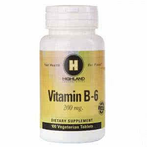 Highland Vitamin B6 100 caps.