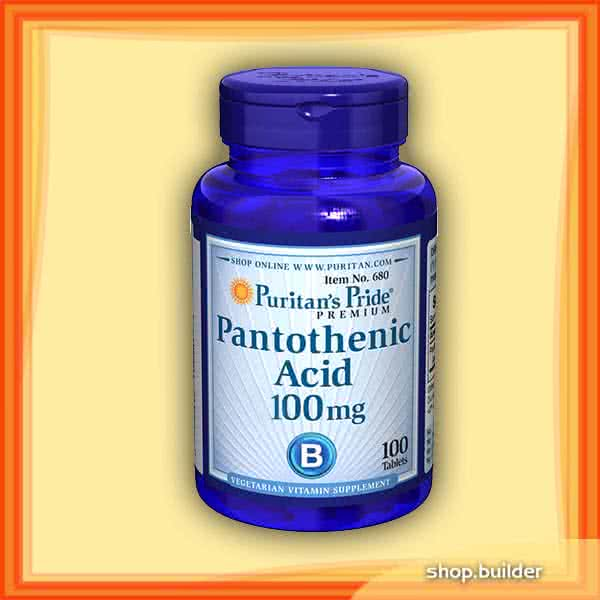 Puritans Pride Pantothenic Acid 100 tab.