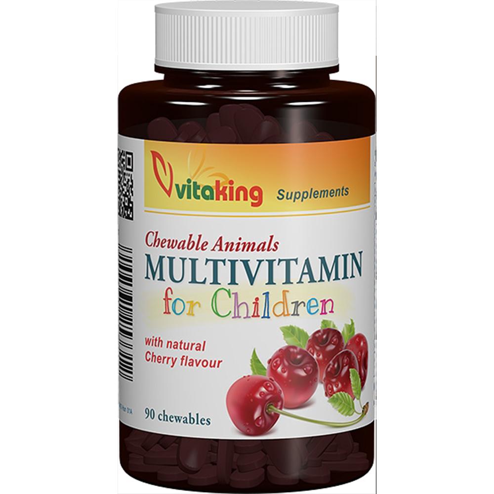 VitaKing Multivitamin for children 90 tabl. de mest.