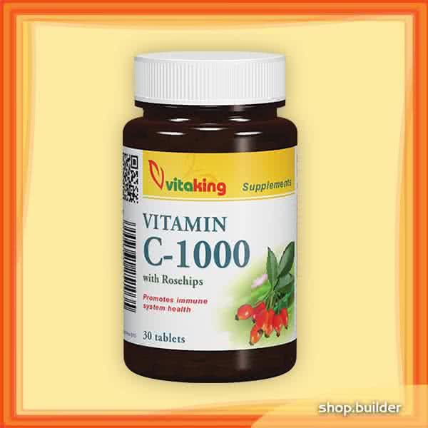 VitaKing Vitamin C-1000 with Rose Hips 30 tab.