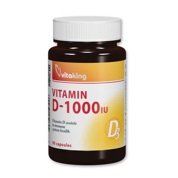 VitaKing Vitamin D-1000 90 caps.