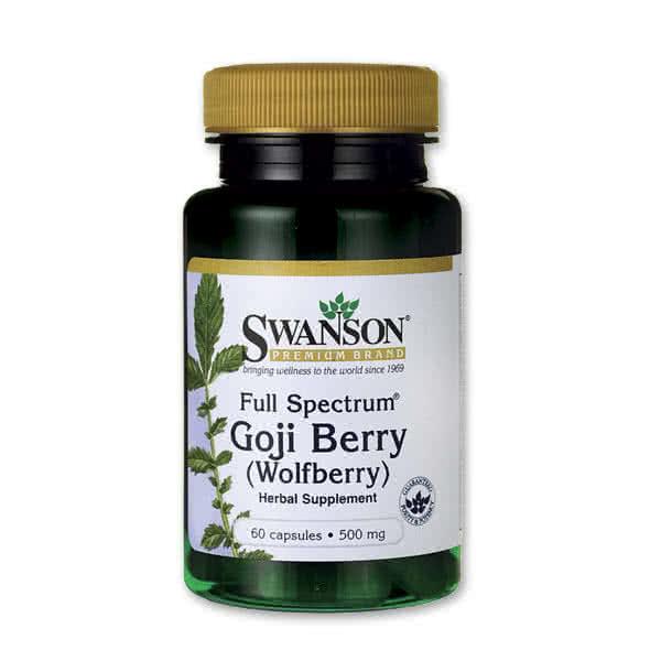 Swanson Goji Berry (500 mg) 60 caps.