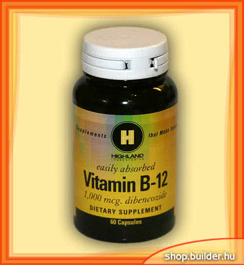 Highland Vitamin B-12 (Dibencozide) 60 caps.