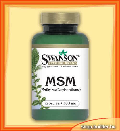 Swanson MSM 100 caps.
