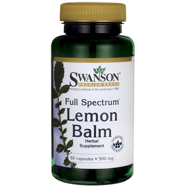 Swanson Full Spectrum Lemon Balm 60 caps.