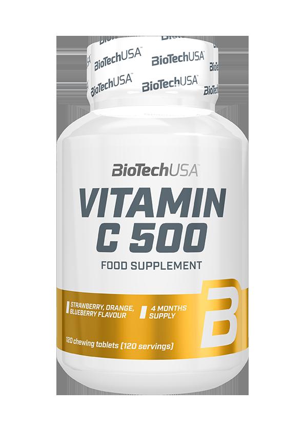 BioTech USA Vitamin C-500 Chewables 120 tabl. de mest.