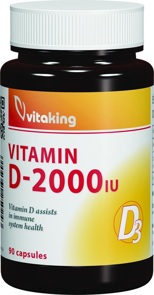VitaKing Vitamin D-2000 90 caps.