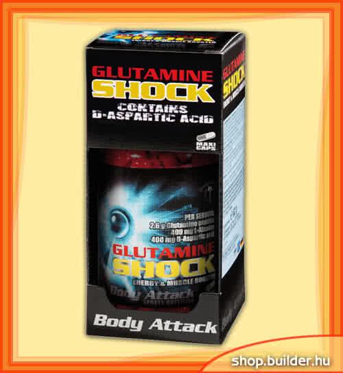 Body Attack Glutamine Shock 80 caps.