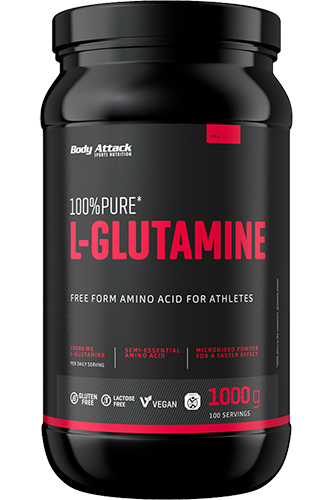 Body Attack 100% Pure L-Glutamine 1000 gr.