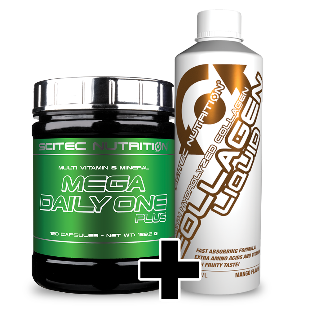 Scitec Nutrition Mega Daily One Plus + Collagen Liquid (set)